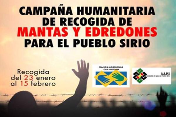 Ayuda Humanitaria de recogida de mantas, edredones y kit de asesos