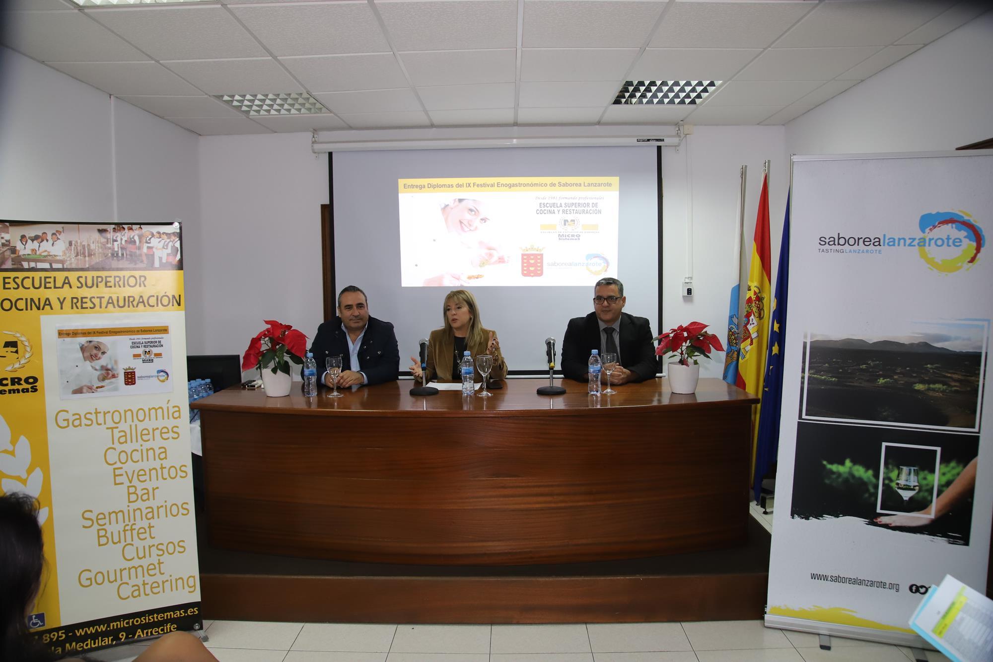 Entrega Diplomas alumnado participante en Saborea Lanzarote